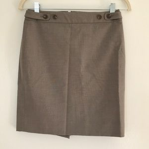 J. Crew Suit Pencil Skirt in bi-stretch wool 0P